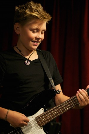 Boy On Bass Guitar